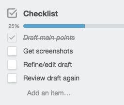 Checklist trello