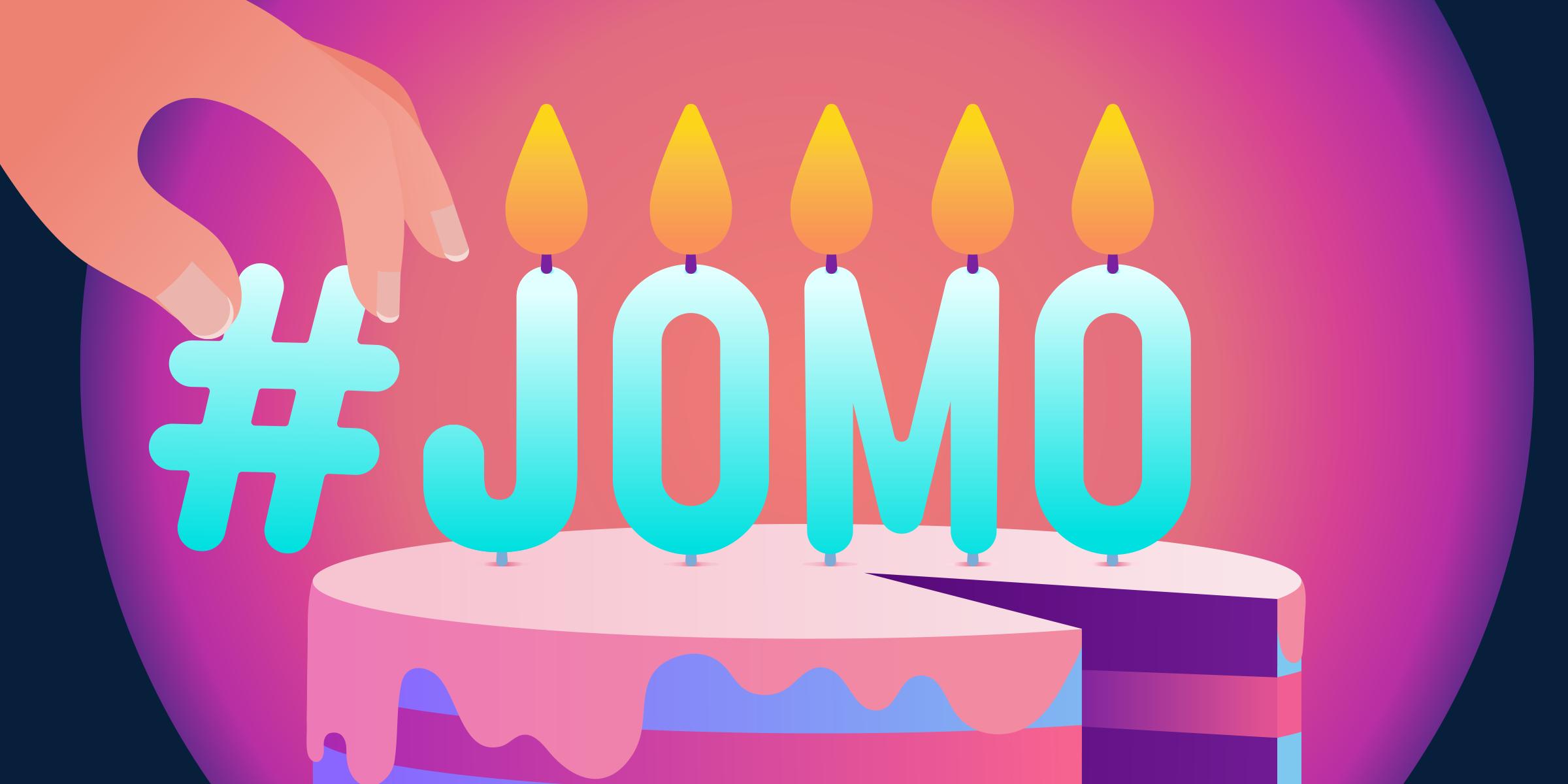 #JOMO hashtag trend Twitter