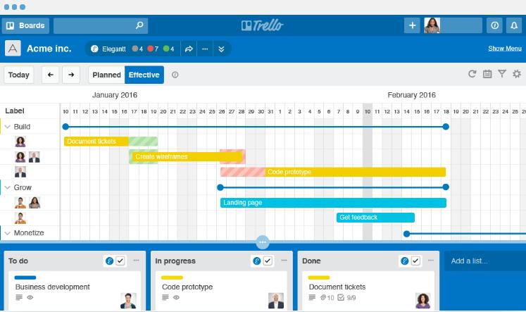 Gantt Chart in Trello erstellen