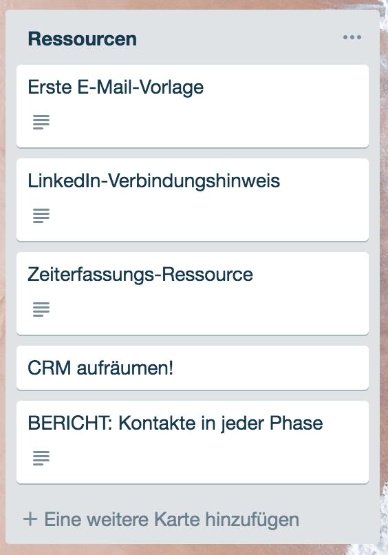 CRM ressourcen