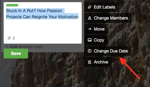 capture d'écran : comment changer ses dates limites