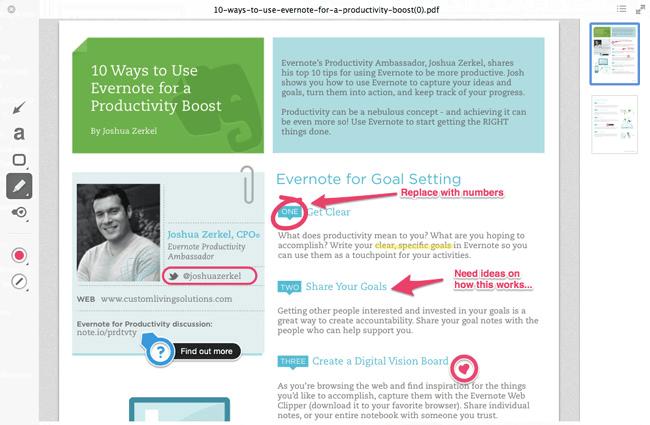 Commentez vos captures d'écran pour apprendre à vos collègues comment déléguer des tâches avec succès.