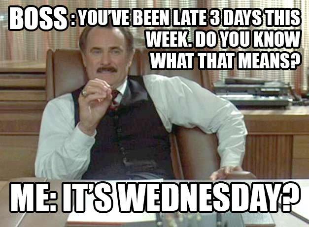 Du bist zu spät - Meme